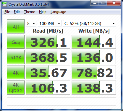 Crystal Disk Corsair Force GT ASUS U3S6 Benchmark Driver 1.2.0.1016