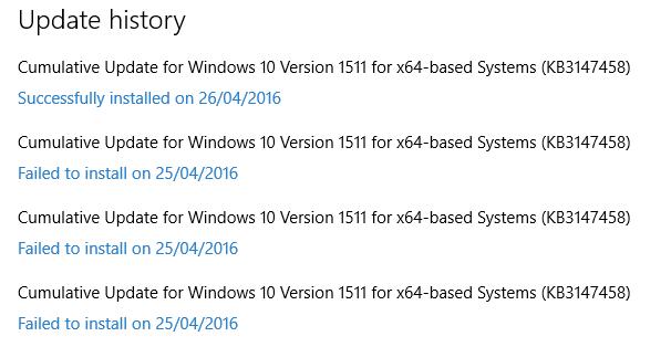Windows10Update Success
